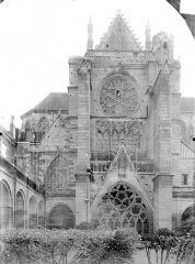 Abbaye Saint-Germain - Façade nord : Transept