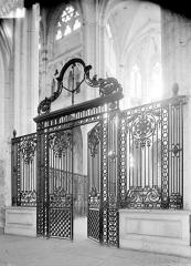 Abbaye Saint-Germain - Grille du choeur en fer forgé