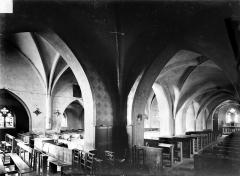 Eglise Saint-Aignan - Vue intérieure du bas-côté nord et de la nef, vers le sud-ouest