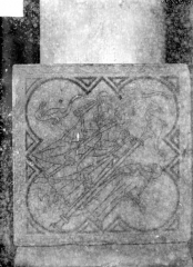 Eglise Saint-Rémi - Chapelle Saint-Eloi : carreau de dallage