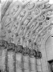 Eglise Saint-Michel - Portail nord de la façade ouest : Voussures de gauche