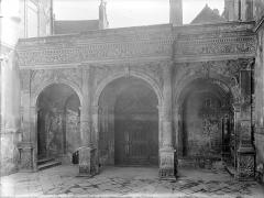 Hôtel de Vogüé - Cour intérieure : Revers du portail