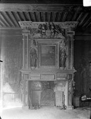 Hôtel de Vogüé - Vue intérieure d'une salle : Cheminée