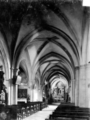 Eglise Saint-Hippolyte - Vue intérieure du bas-côté nord