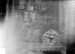 Eglise Notre-Dame - Peinture murale : Scène de la Passion du Christ