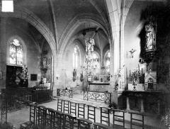 Eglise Saint-Aignan - Vue intérieure de la croisée du transept, vers le nord-est