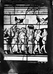 Ancienne abbaye de Brou - Vitrail : Portement de croix