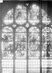 Cathédrale Saint-Maclou - Vitrail, saint Fiacre