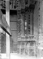 Ensemble archiépiscopal - Portail nord de la façade ouest : Ebrasement droit