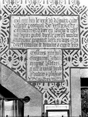 Eglise Saint-Léger - Inscription