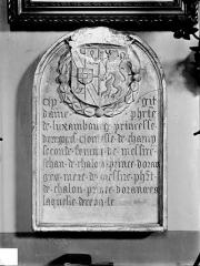 Eglise des Cordeliers - Inscription funéraire de Philiberte de Luxembourg