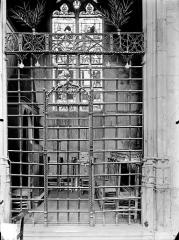 Eglise (collégiale) Notre-Dame - Chapelle des drapiers : Grille