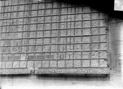 Eglise Notre-Dame et son presbytère - Chapelle des fonts baptismaux : Détail de la grille