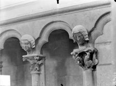 Eglise (collégiale) Notre-Dame - Vue intérieure de la nef : Arcature du triforium