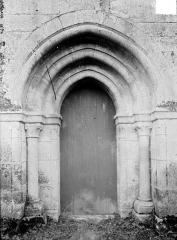 Prieuré de Saint-Jean-des-Bonshommes - Eglise : Petit portail de la façade nord