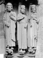 Eglise Notre-Dame - Portail de la façade nord, statues de l'ébrasement droit : Moïse, David, Salomon