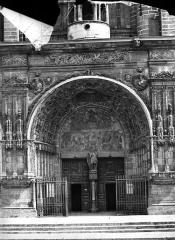 Eglise Saint-Michel - Portail central de la façade ouest