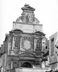 Chapelle des Carmélites - Façade ouest : Partie supérieure