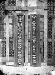 Palais de Justice - Boiseries de plafond : Corbeau