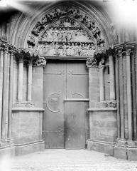 Eglise (collégiale) Notre-Dame - Portail du transept nord (dit porte des Bleds)