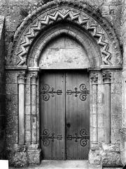 Eglise - Portail nord de la façade ouest