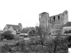 Château (vestiges) - Vue générale prise du nord-est