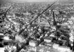 Cathédrale Notre-Dame - Vue aérienne du quartier de la cathédrale et du faubourg Cérès : Vue prise du sud