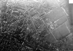 Porte de Mars - Vue aérienne du quartier situé entre le square Colbert et la porte de Mars