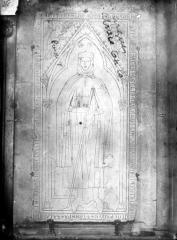 Cathédrale Notre-Dame - Dalle funéraire de Hugues Libergier, architecte de l'élise Saint-Nicaise de Reims