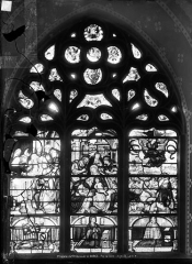 Château de la Barge - Vitrail de la chapelle : L'Adoration des Mages