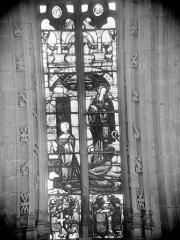 Ancienne abbaye de Brou - Vitrail du choeur : Marguerite d'Autriche et sa patronne, sainte Marguerite
