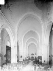 Ancienne abbaye Saint-Pierre, actuellement Centre Hospitalier spécialisé - Nef, vue depuis l'entrée