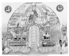 Eglise Saint-Martin de Vicq - Peinture murale d'après le relevé de Brune