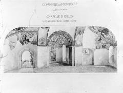Ancien prieuré Saint-Gilles - Peinture murale d'après le relevé de Breton