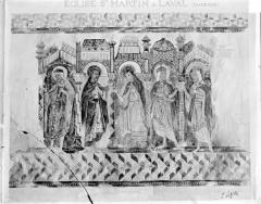 Ancienne église Saint-Martin - Peinture murale d'après le relevé de Laffilée
