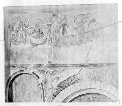 Eglise Saint-Loup - Peinture murale d'après le relevé de Lameire