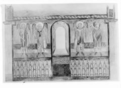 Eglise Saint-Theudère - Peinture murale d'après le relevé de Denuelle