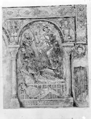 Château des Moines de Cluny - Peinture murale d'après le relevé d'Yperman