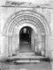 Eglise Saint-Georges, anciennement Saint-Janvier - Portail de la façade ouest