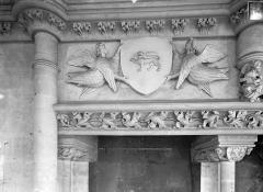 Ancien Palais des Comtes de Poitiers - Salle des Pas perdus : vue prise depuis la cheminée