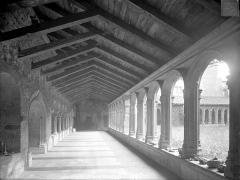 Abbaye de Charlieu - Cloître : Vue intérieure de la galerie est