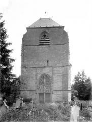 Eglise Saint-Hilaire - Façade ouest : Clocher
