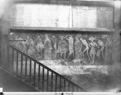 Eglise abbatiale Saint-Robert - Peinture murale : La Danse macabre