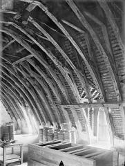 Ancien Hôtel de Jean Du Moulin de Rochefort, actuellement siège de la DRAC (direction régionale des affaires culturelles) de Poitou-Charentes - Vue intérieure des combles : Charpente