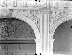 Collège de Poitiers  , actuellement lycée Henri IV - Chapelle : Ecoinçons de la tribune