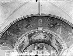 Collège de Poitiers  , actuellement lycée Henri IV - Chapelle : Peintures murales du choeur