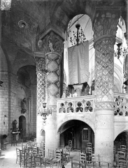 Eglise Sainte-Radegonde - Vue intérieure du déambulatoire, côté est