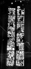 Eglise - Vitrail du choeur : Marie-Madeleine, saint Martin et saint Hubert, l'Arbre de Jessé