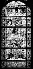 Hôpital - Vitrail de la chapelle : Histoire de Joseph