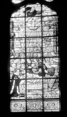 Hôpital - Vitrail de la chapelle : L'Adoration des bergers